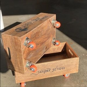 Anthropologie Storage & Organization - Decorative Antique Retro Box On Wheels